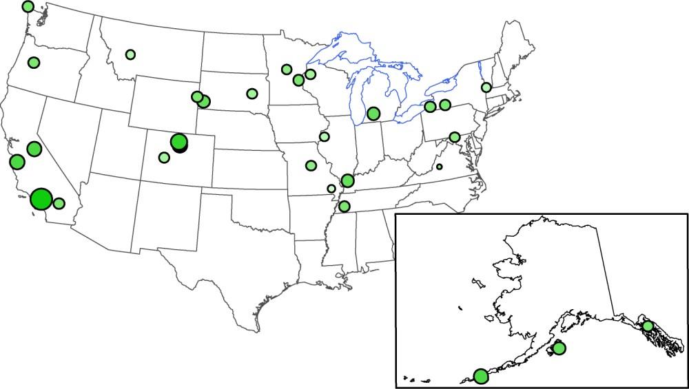 medium resolution of cesium 137 wet deposition in becquerels per square meter march 15 april 5 2011