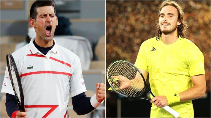 Novak Djokovic x Stefanos Tsitsipas se enfrentam neste domingo (13), pela final do Roland Garros