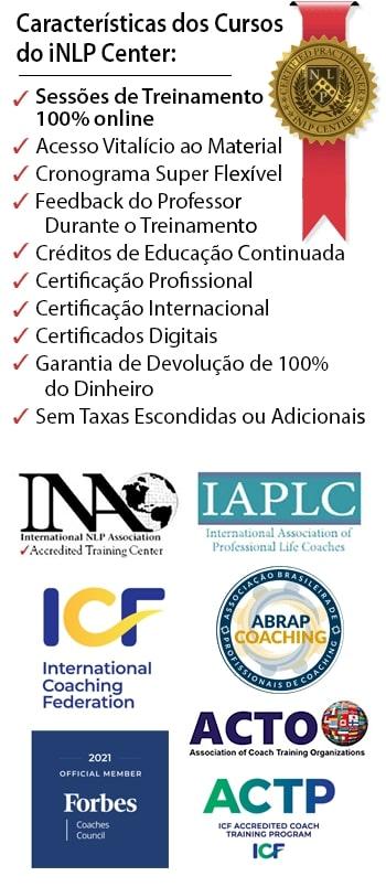 Características do curso de PNL e Coaching