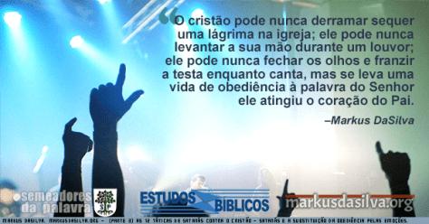 Igreja moderna cheia de adoradores com Estudo Bíblico - (Parte 3) Estudo Bíblico - As 12 Táticas de Satanás Contra o Cristão - Satanás e a Substituição da Obediência Pelas Emoções - Markus DaSilva