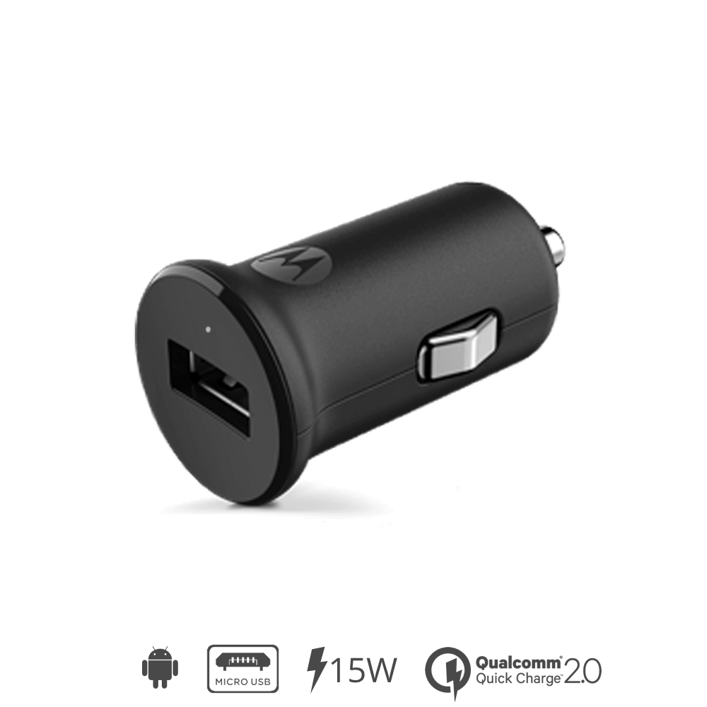 Motorola TurboPower 15 Car Charger + Micro-USB Data Cable