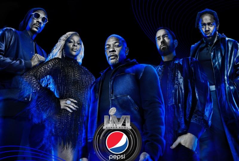 SuperBowl 2022 Dr. Dre Snoop Dogg Kendrick Lamar Mary J. Blige Eminem