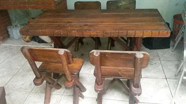 mesa rustica p area de lazer  Vazlon Brasil