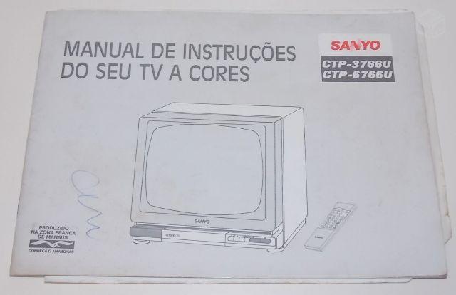antiga televisao sanyo ctp funcionando porem [ OFERTAS