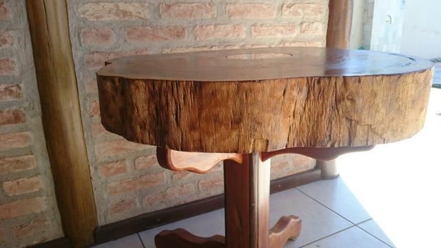 mesa rustica em patina area externa lazer  OFERTAS