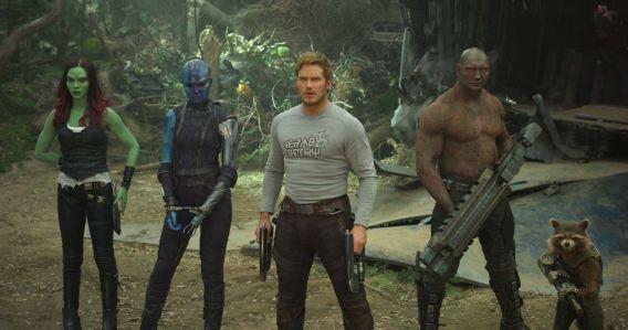 Guardiões da Galáxia Vol. 2 : Foto Chris Pratt, Dave Bautista, Karen Gillan, Zoe Saldana
