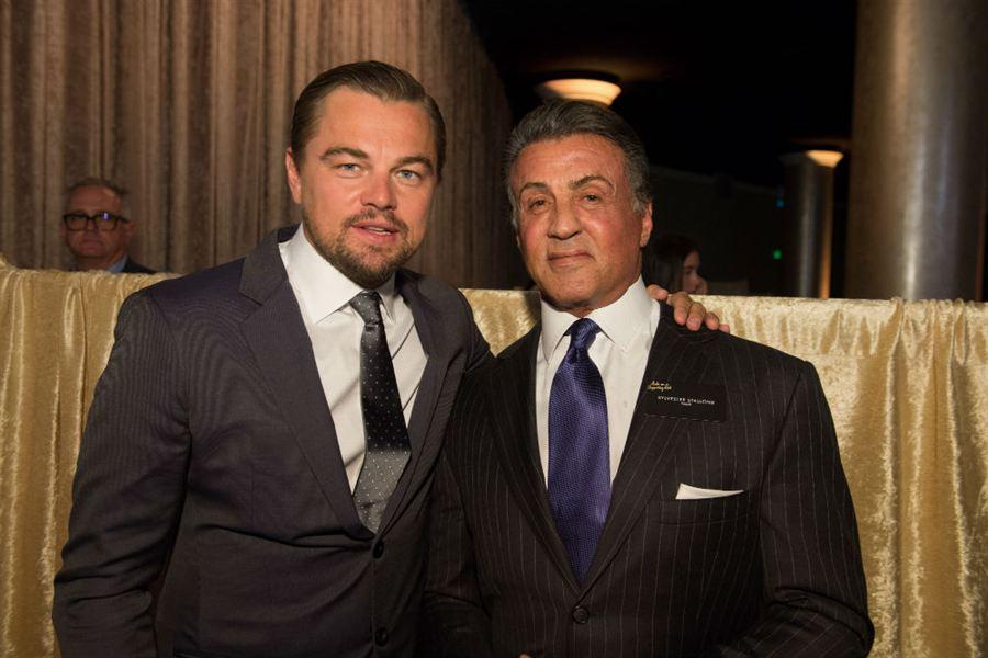 Leonardo DiCaprio e Sylvester Stallone