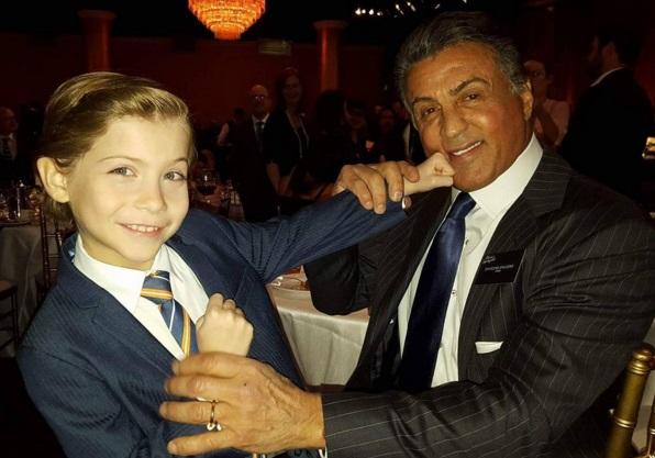 Jacob Tremblay e Sylvester Stallone