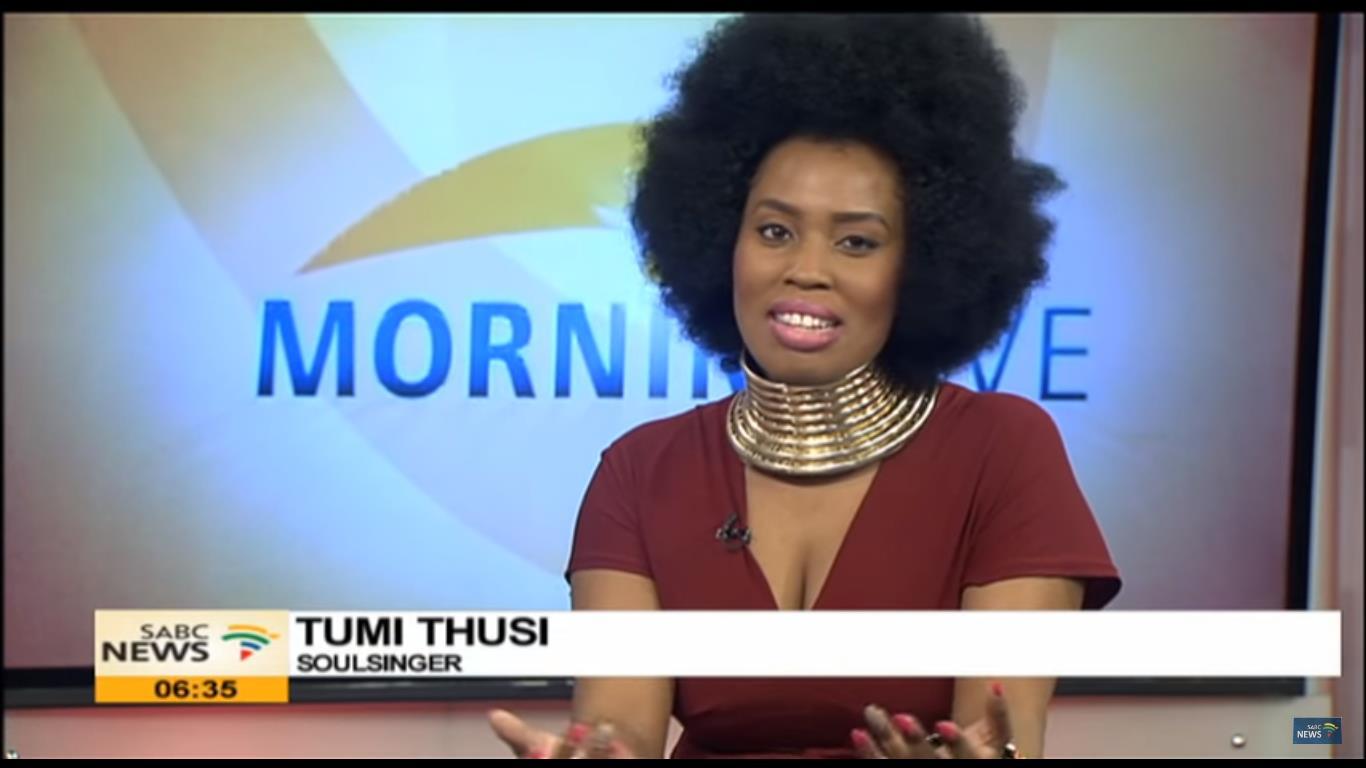 Tumi Thusi on Morning Live