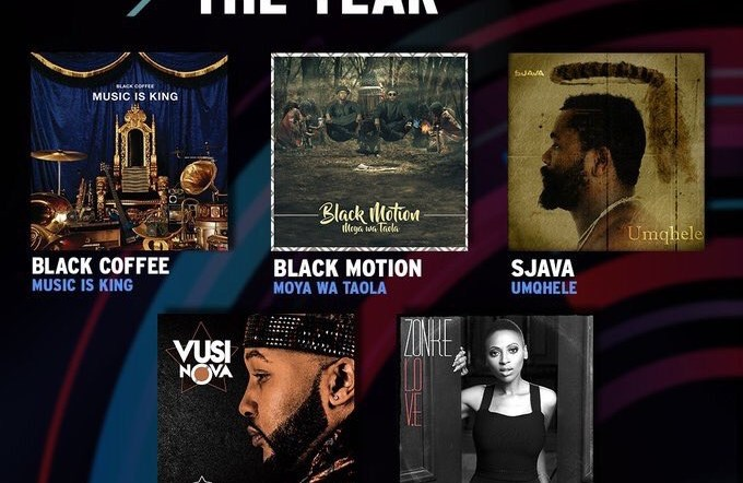 SAMA25 nominees led by Black Coffee and the year's biggest hitmakers.