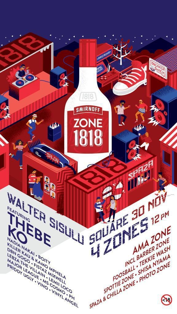 SMIRNOFF CELEBRATES KASI CULTURE WITH THE FIRST EVER ZONE 1818 MUSIC EXTRAVAGANZA