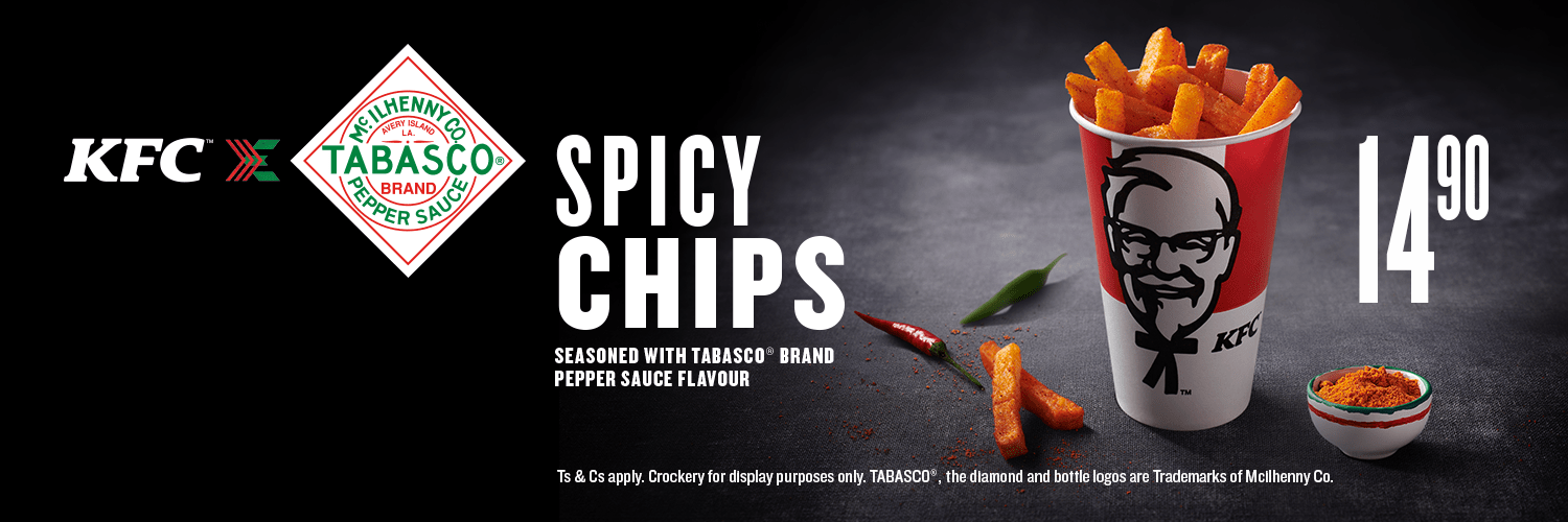 KFCslimited editionSpicy Chips – the only cure is MORE!