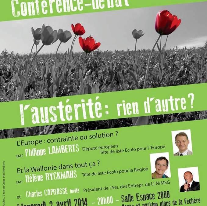 Conférence-débat à Chastre le 02/04 : L'austérité, rien d'autre ?