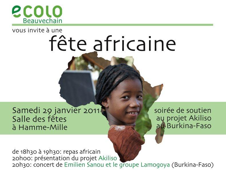 Beauvechain : Soirée de soutien au projet Akiliso au Burkina Faso