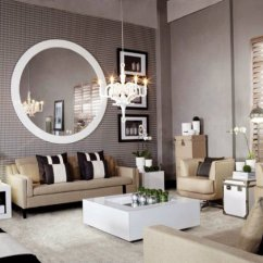 Mirrors Living Room 2 Couch Ideas 8 To Use A Round Mirror In Large