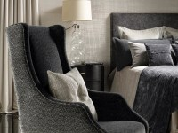 Decorate your bedroom with a wingback chair