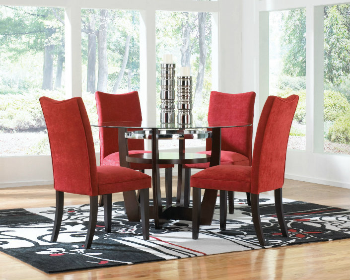red tufted dining chair mongolian fur cover the 5 best upholstered chairs for a rectangular table rainbow classical room 2