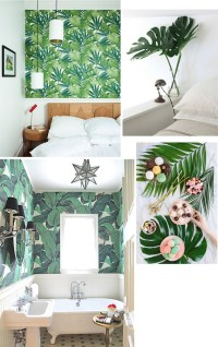 Home decor Ideas: Use tropical leaves