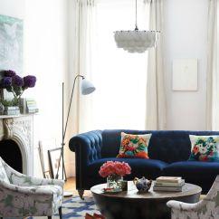 Blue Velvet Chesterfield Sofa Elegant Boat Beds 4 U Interior Design Tips