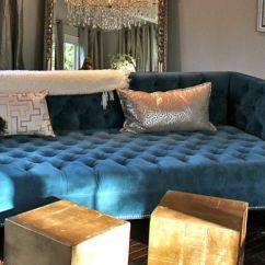 Blue Velvet Chesterfield Sofa Frame Construction Interior Design Tips 2