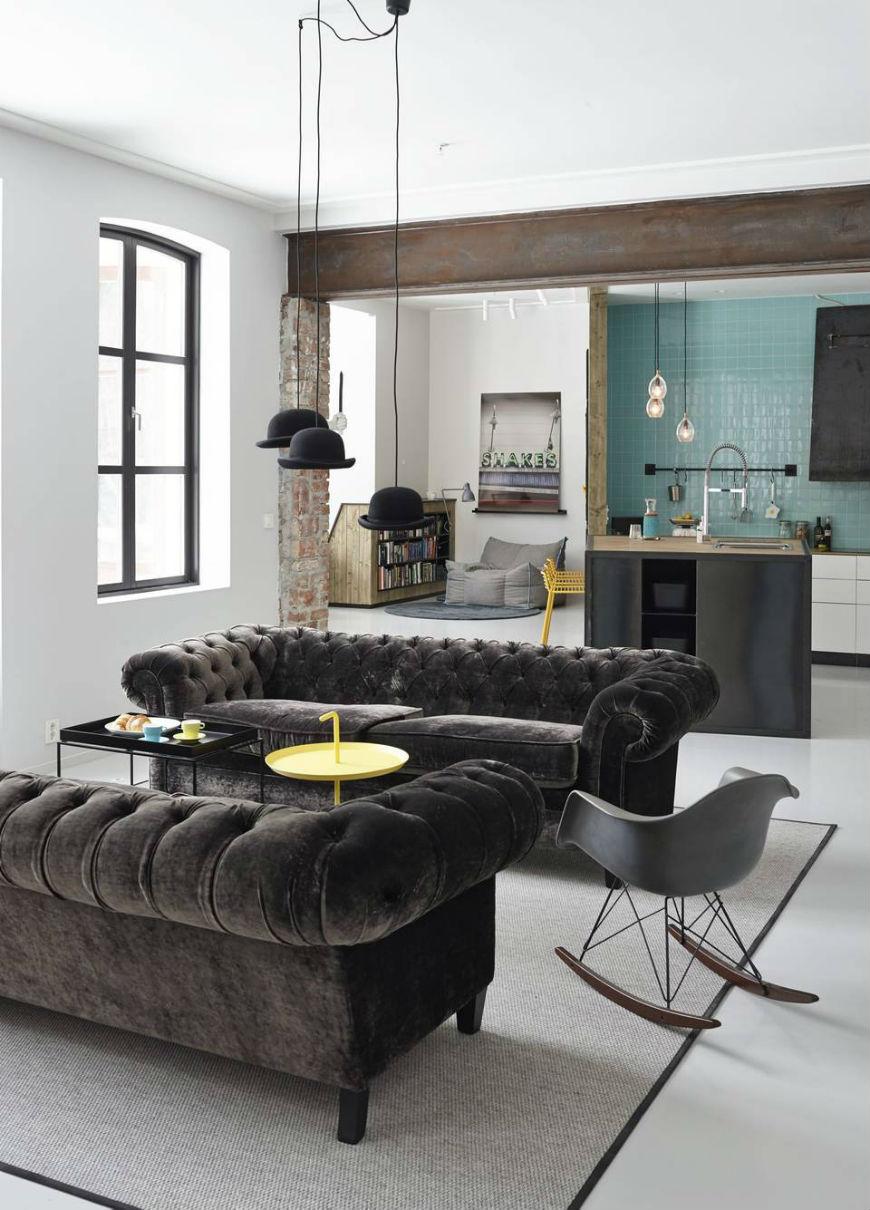 Interior Design Tips Blue Velvet Chesterfield Sofa