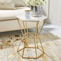 Interior design tips: brass side tables