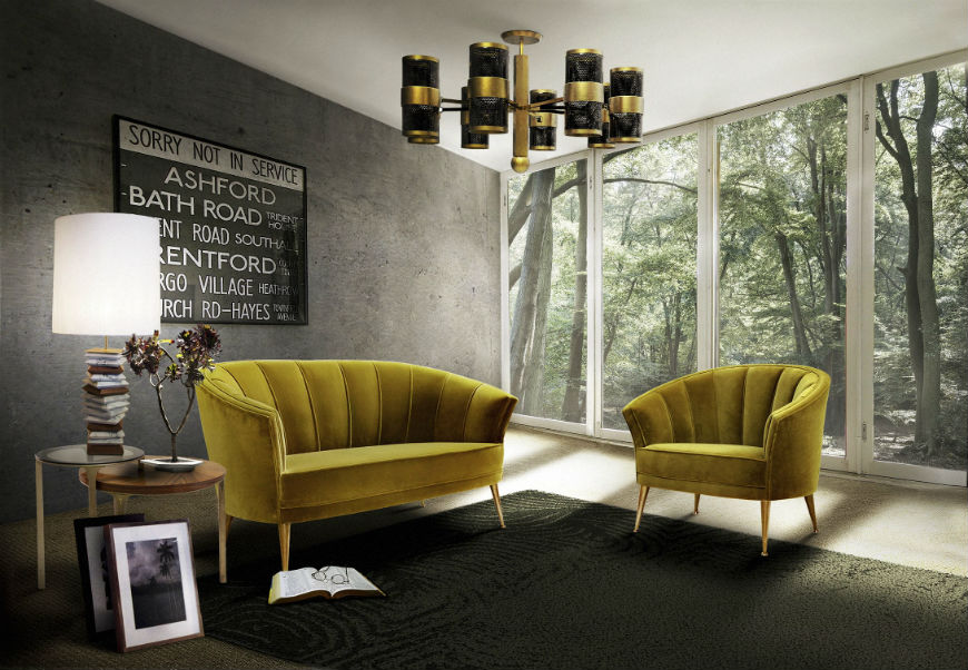 small living room with sofa and 2 chairs wall tiles top 15 furniture design trends modern sofas 10