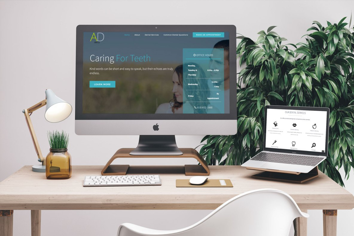 Dental Website Mockup Example