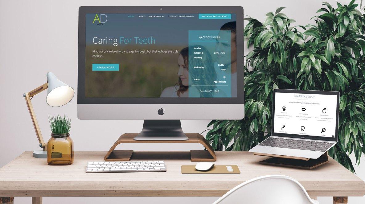 Dental Website Mockup Example