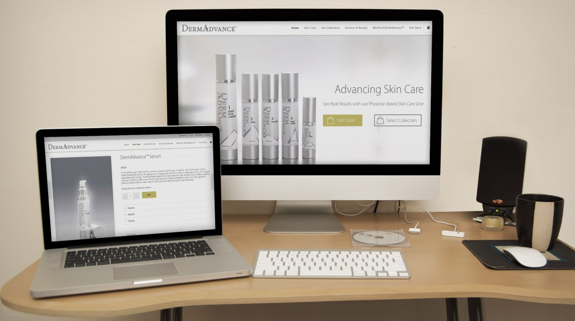Skin Care eCommerce Website Mockup Example