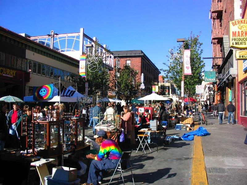 Telegraph Ave during a street fair.