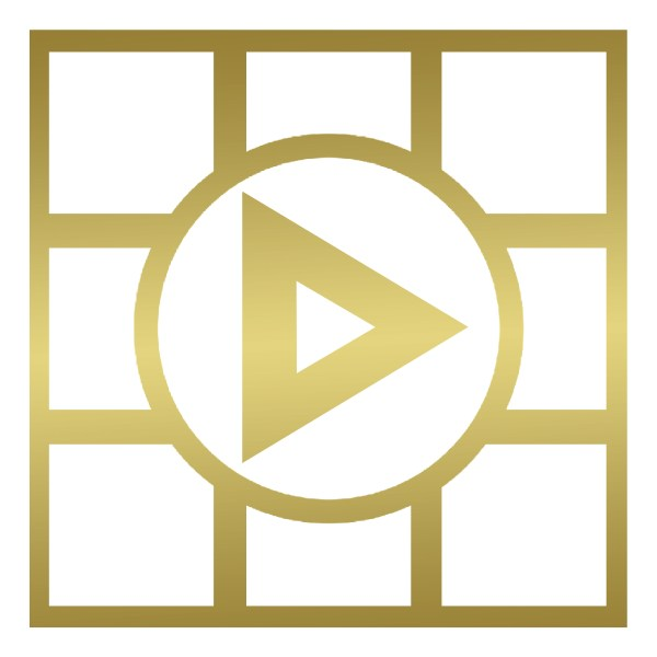 Braddy Media - Logo - Textured (White & Gold) - Home