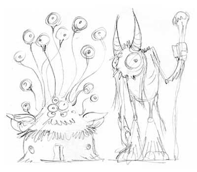 Murrin blog: monster drawings