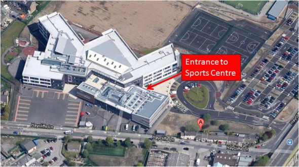 Entrance to the Southfield Grange Sports Centre