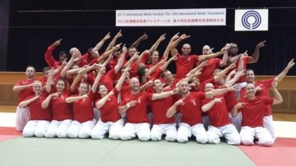 """BAA 2013 Team doing the """"Bolt"""""""