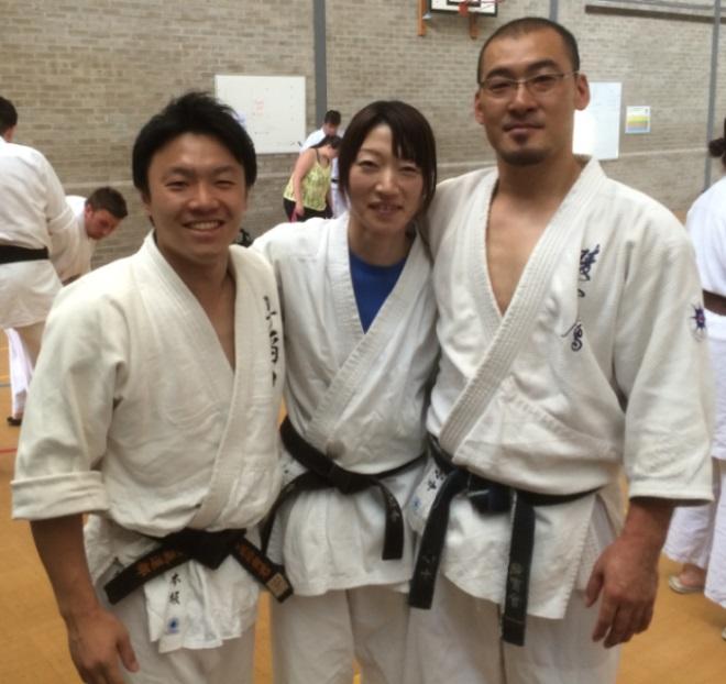 Yuki, Keiko Konaka, Junji Konaka at the 2014 BAA Summer School