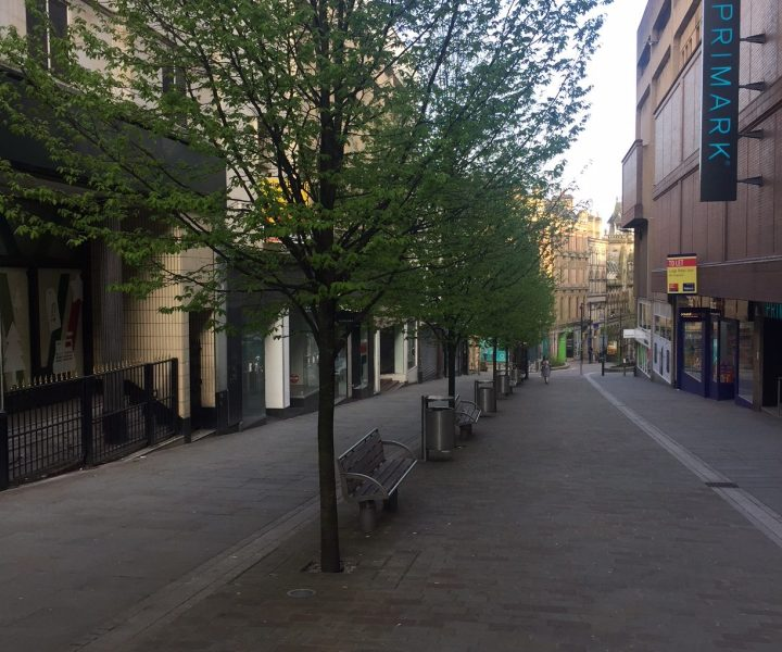 Ghost town? A deserted Darley Street at 6pm on a Friday evening