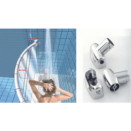 Stainless Steel Curved Shower Curtain Rods Bradfords Of Tampa