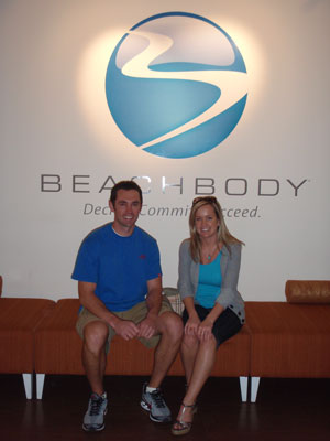 Me and Andrea at Beachbody HQ