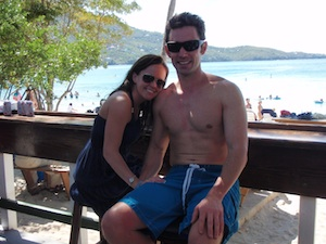 Me and Andrea at Megans Bay