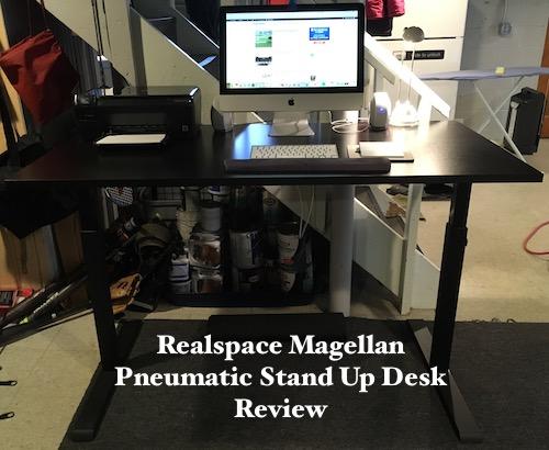 Realspace Magellan Pneumatic Stand Up Adjustable Desk