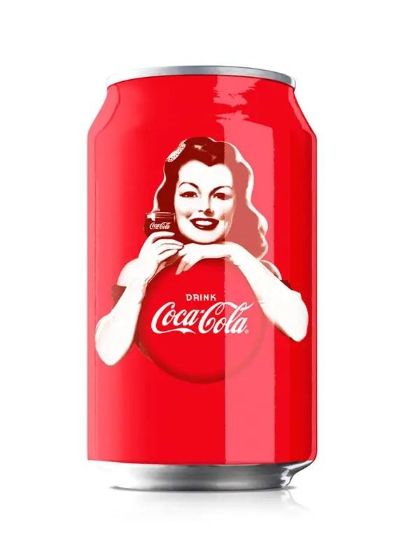 Coca-Cola Pin Up Can Design