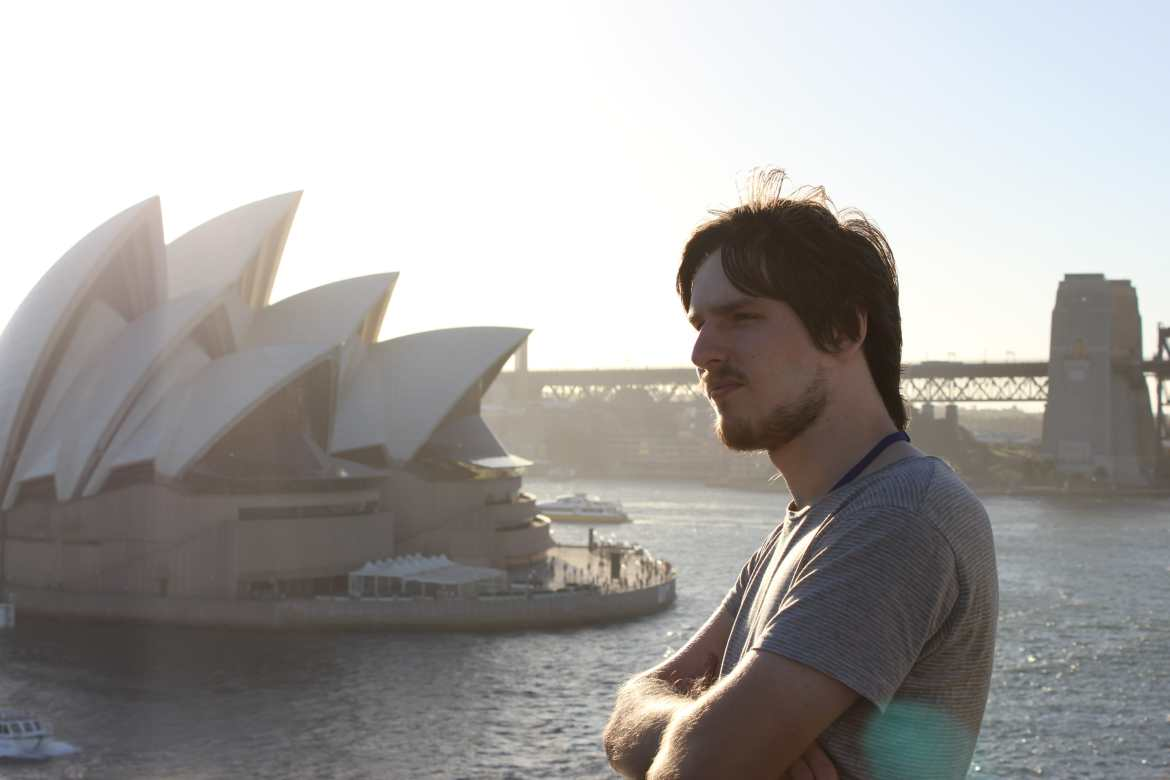 Brad Matthews with sydney opera house in background