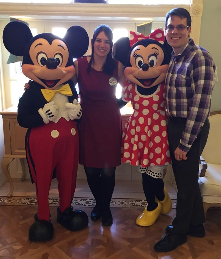 Disney proposal at Club 33. Brad and Meghan engagement.