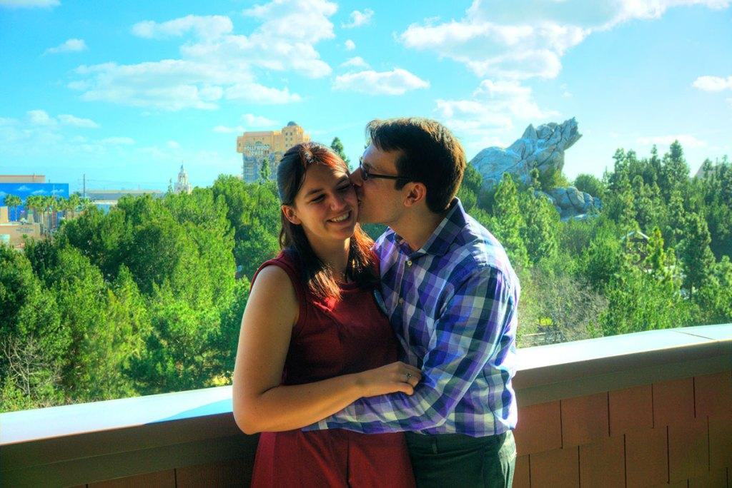 Disney Proposal Disneyland Engagement Brad and Meghan
