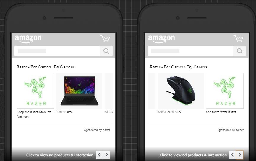 Amazon Advertising Store Spotlight Ad Example