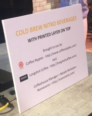 cold brew sign
