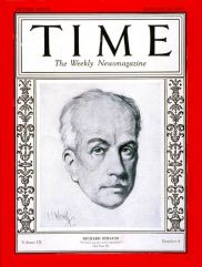 Richard Strauss on the cover of Time Magazine, 1927