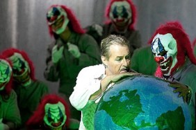 "Most don't realize clowns have been behind virtually every attempt of global domination as in this photo from the opera ""Mefistofele"" where Satan's minions are funny people.....with fangs."