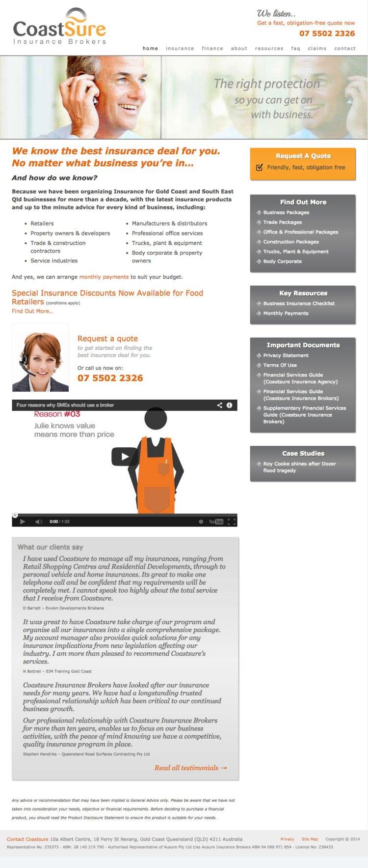 CoastSure-Insurance-Brokers-gold-coast-wordpress